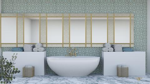 Art Deco bathroom 2 - Bathroom  - by iope