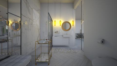 Glamour_golden bathroom2 - Bathroom  - by lovasemoke