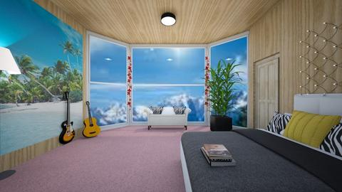 Wooden Cabin Bedroom - Bedroom  - by kamonela09