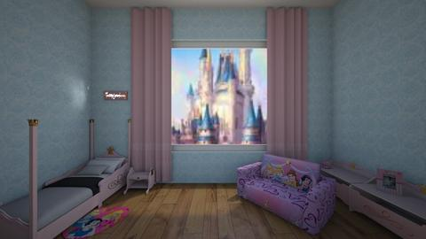 Dreams of pink princesses - Kids room  - by theIrishdog