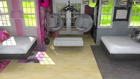 twins - Eclectic - Bedroom  - by Lizette Najera