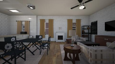 Large Manhattan Loft - Living room  - by mspence03