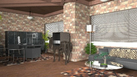 Brick OffiCe.... - Modern - Office  - by KittiFarkas