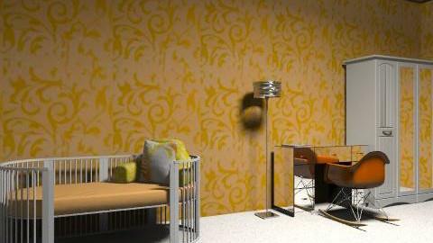 Orange and White Kids Room - Modern - Kids room  - by SydneyJay