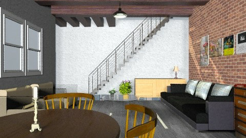 living loft - Retro - Living room  - by Veny Mully