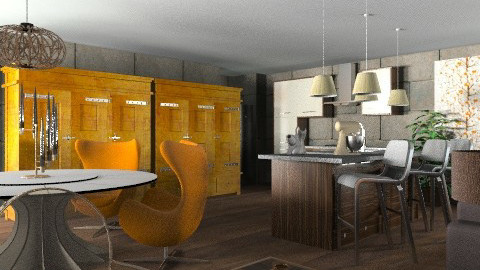 Kitchen No 2F   30 Mar - Eclectic - Living room  - by Patrick Mallaley