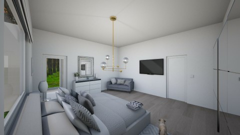 Bedroom and bathroom - by AnaCatarina