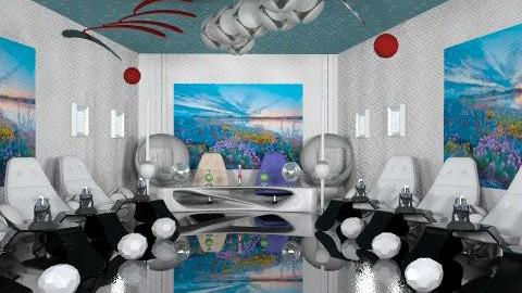 sala de juntas futurista - Modern - Office  - by ATELOIV87