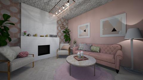 Pastel Pink  - Living room  - by Jodie Scalf