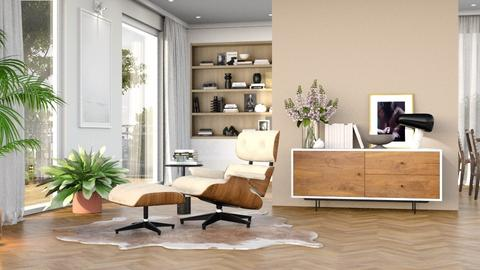 A chair and a glass - Modern - Living room  - by olivergraccobc