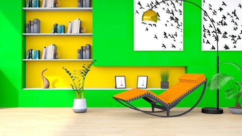 Bright Green - Modern - Living room  - by millerfam