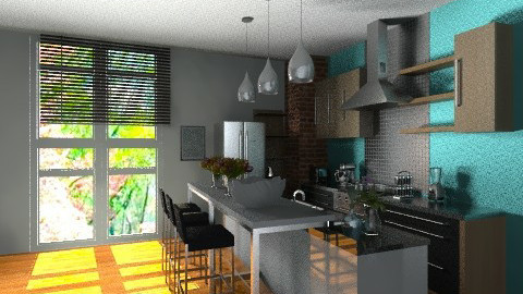 sunny cooking10 - Eclectic - Kitchen  - by miranda92