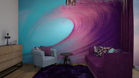 Blue And Purple Living - Living room  - by RhodriSimpson13