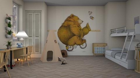 Happy_Bear - Kids room  - by ZuzanaDesign