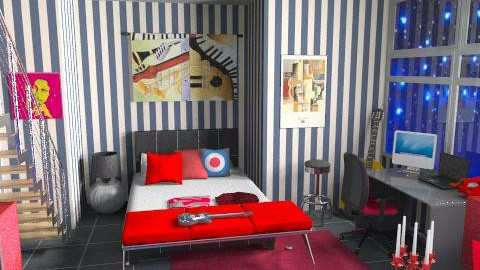 chitarra - Eclectic - Bedroom  - by catcarla