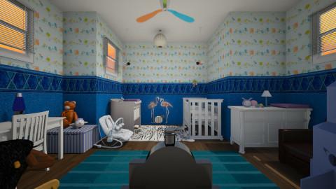 baby blue - Kids room  - by janetski2