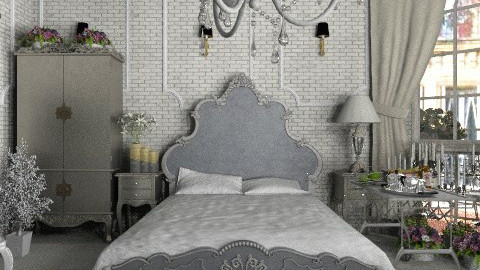 french apartment: Silver bedroom - Classic - Bedroom  - by Your well wisher