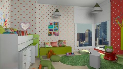 red forest - Kids room  - by chania