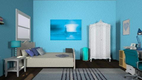 Blue - Glamour - Bedroom - by 89dudes