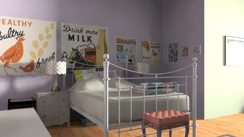 Rachaels Room - Vintage - Bedroom  - by Katherine100