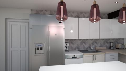 Kitchen L v5 fridge cab - Kitchen  - by kurtwise