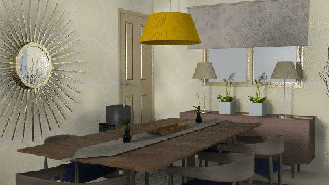 RR18. Soft Beige - Dining Room - by KarenWilkinson