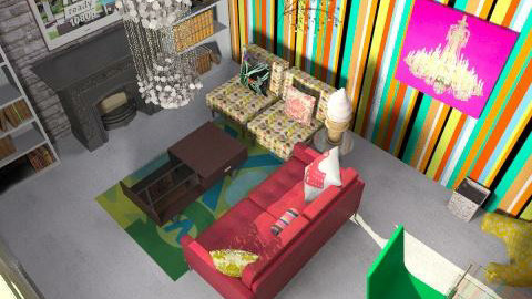Open Plan Living  - Retro - Living room  - by caitlingay