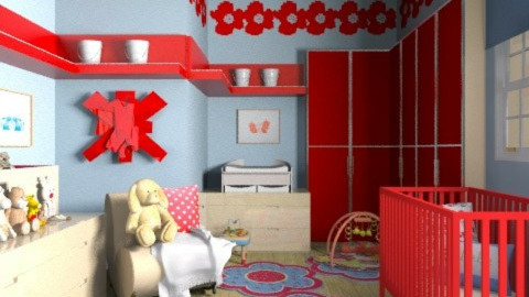 Poppin' Poppies! - Kids room  - by jenshadow_222