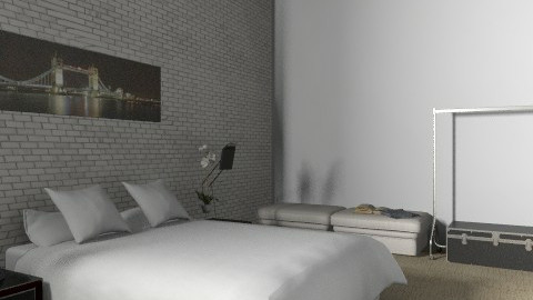 Loft  - Minimal - Bedroom - by muffinswithfrosting