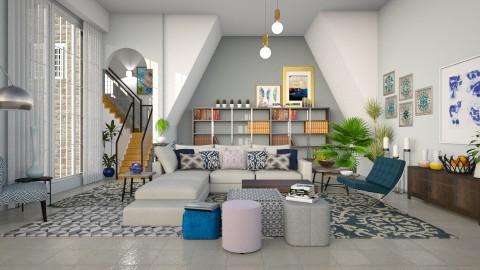 Blue Hues - Modern - Living room  - by janip