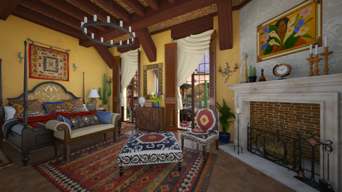 Mexican Bedroom - Rustic - Bedroom  - by maja97