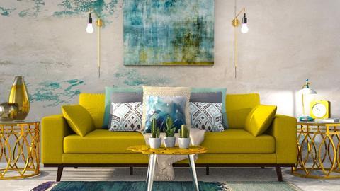 Turquoise living room - Modern - Bedroom  - by borjan