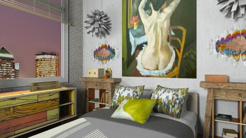 Artists Rest - Eclectic - Bedroom  - by nikkisp