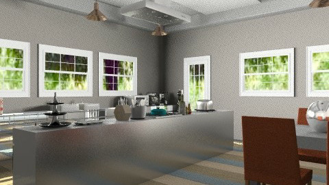 BeigeWhiteBlue - Eclectic - Kitchen  - by PFrate