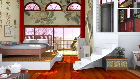 Oriental Magic2 - Classic - Bedroom  - by XelleWishes