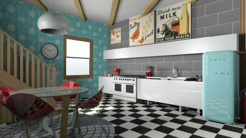 Retro - Retro - Kitchen  - by NatalieH