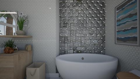 White Bath - Bathroom  - by Alexis and Natalie