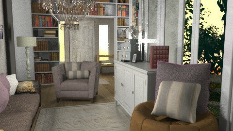 Sunroom Living space - Vintage - Living room  - by aveneym