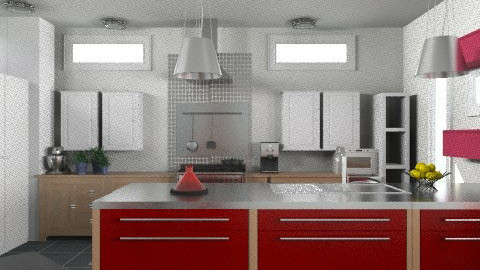 kitcheng - Eclectic - Kitchen  - by Yellow Moon Design