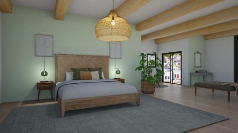 Sage bedroom - Bedroom  - by seeeeeesiiiiiiii