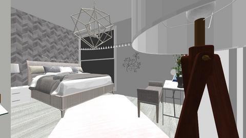 Grey - Minimal - Bedroom  - by Luisas rooms