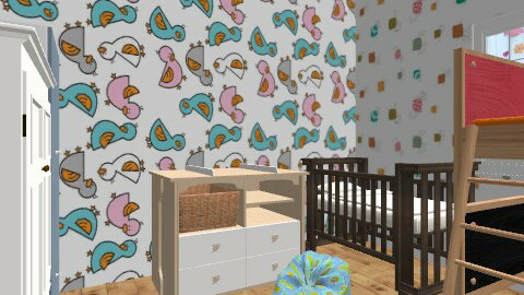 maya and tati's room - Minimal - Kids room  - by frankersforyou