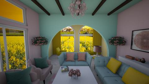 Blurry Living - Living room  - by nkanyezi