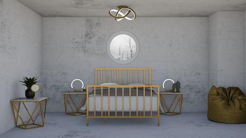 Gold concrete 2 - Bedroom  - by logz mcw