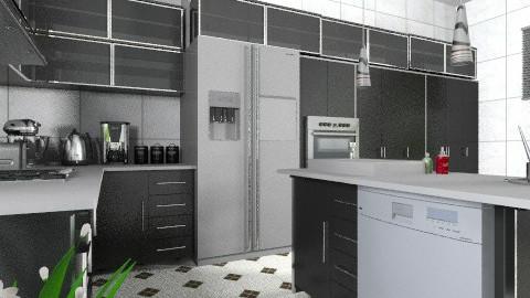 Black and White 2 - Modern - Kitchen  - by Bibiche