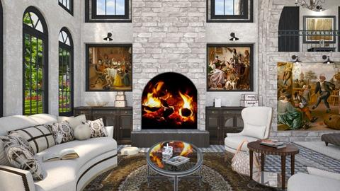 Castle - Living room  - by Amyz625