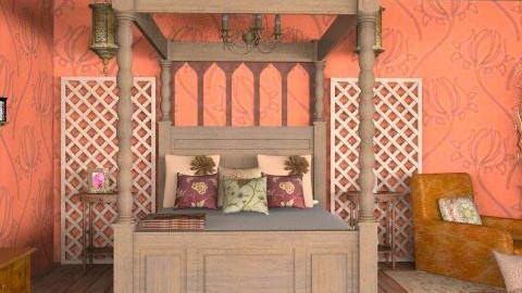 Rust and Brown Bedroom - Rustic - Bedroom - by reedj0218