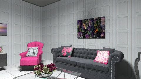 Pink touch - Glamour - Living room  - by EmilyAlice