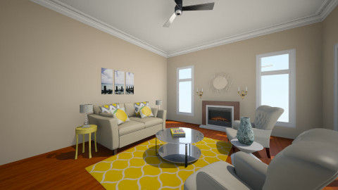 Mocha Brown Room  - Living room - by kenkai1004