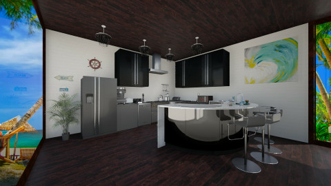 Black - Modern - Kitchen - by Anna Wu